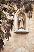 Sculpture of Franciscan monk, Jerusalem, Israel