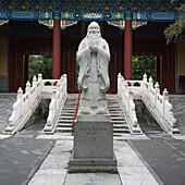Statue of Confucius at Confucius Temple, Beijing, China