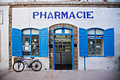 Exterior shot of a pharmacy, Morocco