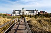Spa Hotel, Juist Island, Nationalpark, North Sea, East Frisian Islands, East Frisia, Lower Saxony, Germany, Europe