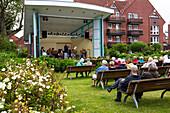 Spa concert, Juist Island, Nationalpark, North Sea, East Frisian Islands, East Frisia, Lower Saxony, Germany, Europe