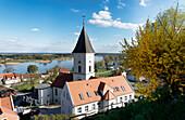 Church in Lebus, Oder, Maerkisch-Oderland, Brandenburg, Germany