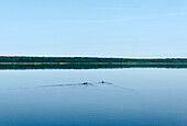 Lake Krakow near the town of Krakow am See, Mecklenburg-Western Pomerania, Germany