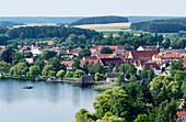 Krakow Lake, Town Krakow at the Lake, Mecklenburg-Western Pomerania, Germany