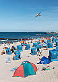 Beach at the seaside resort of Kuehlungsborn on the Baltic Sea, Mecklenburg-Western Pomerania, Germany
