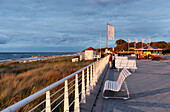 Seafront in Kuehlungsborn West, Seaside resort at the Baltic sea in Kuehlungsborn, Mecklenburg-Western Pomerania, Germany