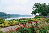 Baroque garden of Eutin castle, Grosser Eutiner See, Eutin, Schleswig-Holstein, Germany