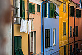 Main street Via Capellini, Porto Venere, Province of La Spezia, Liguria, Italy
