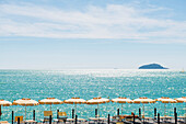 Lido near Lerici, province of La Spezia, Liguria, Italia