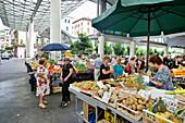 Weekly market at Piazza Cavour, La Spezia, Liguria, Italia