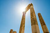 Temple of Hercules in sunlight, Amman, Jordan, Middle East