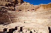 Roman theatre, Petra, Wadi Musa, Jordan, Middle East