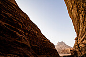 Rock formation, Wadi Rum, Jordan, Middle East