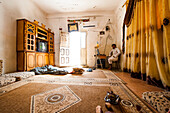 Room of a Bedouin family, Wadi Rum, Jordan, Middle East