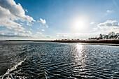 View to island Oehe, Schaprode, island of Ruegen, Mecklenburg-Western Pomerania, Germany