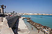 Waterfront of Otranto, Adriatic Sea, Lecce Province, Apulia, Peninsula Salento, Italy, Europe
