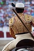Picador bullfighter, lancer whose job it is to weaken bull´s neck muscles, Spain