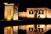 Debod Temple, ancient Egyptian structure in Madrid center