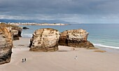 Dramatic cliffs at Playa Catedrales, Galicia coast, Spain