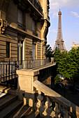 Blick auf den Eiffelturm, Paris, Frankreich, Europa