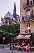 Cafe Esmeralda und Notre Dame, Paris, Frankreich, Europa