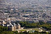 Blick vom Tour Montparnasse, Paris, Frankreich, Europa