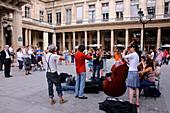 Musicians on Place Colette, Paris, France, Europe