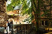 Impassa des Ursulines, Terasses des Minimes (Terrassengärten) am Zitadellenhügel, Lüttich, Wallonien, Belgien