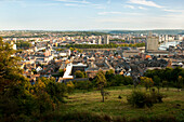 Cityscape from from the heights of the Citadel, Liege, Wallonia, Belgium