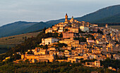Trevi, an ancient town on the flank of Monte Serano, Valle Umbra, St. Francis of Assisi, Via Francigena di San Francesco, St. Francis Way, Trevi, province of Perugia, Umbria, Italy, Europe