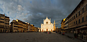 Basilica di Santa Croce, gothic, franciscan church on the Piazza Sta. Croce, historic centre of Florence, UNESCO World Heritage Site, Firenze, Florence, Tuscany, Italy, Europe