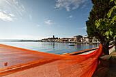 Fishing nets on the lake shore, Marta, Lago di Bolsena, crater lake of volcanic origin, province of Viterbo, Lazio, Italy, Europe