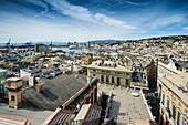 View over the historic quarter, Genoa, Liguria, Italia
