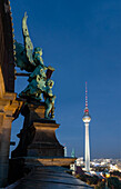 Panoramic view from the cathedral towards Alexanderplatz, Berlin, Germany