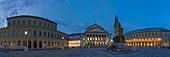 360 degrees Panorama, National Theater with Bavarian State Opera, Max-Joseph-Platz, Munich, Bavaria, Germany