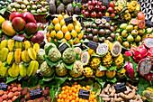 La Boqueria Market, Fruits, Ramblas, Barcelona