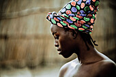 Young woman of the Lozi tribe, Caprivi region, Namibia, Africa
