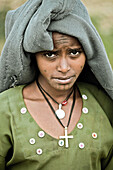 Young woman from the Ethiopian Highlands, Ethiopia, Africa