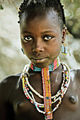 Girl from the Benna tribe, Omo valley, South Ethiopia, Africa