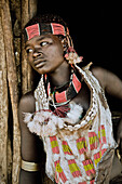 Young woman from the Hamar tribe, Turmi, Omo valley, South Ethiopia, Africa