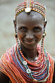 Young woman from the Samburu tribe, North Kenya, Kenya, Africa
