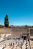 Amphitheatre, Pompeii Archaeological Site (UNESCO Site), Naples, Bay of Naples, Campania, Italy