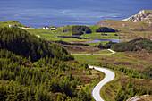 View towards Krakenes, Vagsoy Island, Province of Sogn og Fjordane, Vestlandet, Norway, Europe