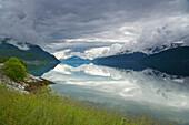Nordfjord near Brygga, Province of Sogn og Fjordane, Vestlandet, Norway, Europe