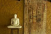 Meditating Buddha in the Meditation room of the The Samadhi Center, resort in the mountains near Kandy, Sri Lanka