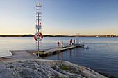 Bathing area near Myggenaes at Stenungsund, Tjoern Island, Province of Bohuslaen, West coast, Sweden, Europe