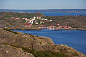View from Ronnang, Tjoern Island to Stora Dyroen Island, Province of Bohuslaen, West coast, Sweden, Europe