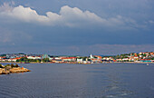 View from ferry to Stromstad, Province of Bohuslaen, West coast, Sweden, Europe