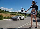 Porsche, 550 RS Spider, Mille Miglia, 1000 Miglia, Assisi, Perugia, Umbrien, Italien, Europa