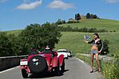 Alfa Romeo, 6C 1750 Gran Sport, 1932, Mille Miglia, 1000 Miglia, near San Quirico d'Orcia, Toskana, Italy, Europe